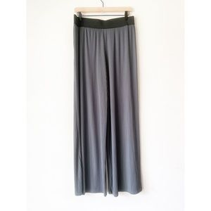 Alfani Gray Green Accordion Gaucho Wide Leg Pants